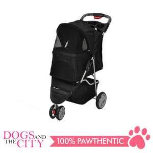 BM SP03 3 Wheel Pet Stroller Black