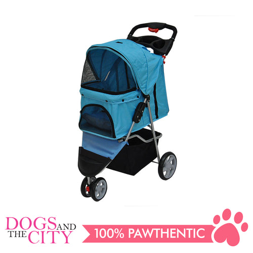 BM SP03 3 Wheel Pet Stroller Light Blue