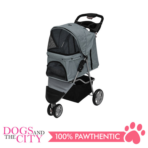 BM SP03 3 Wheel Pet Stroller Gray
