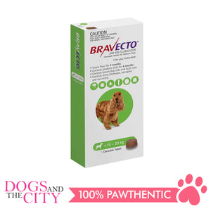 Bravecto Medium (10-20kg) Anti Tick and Flea Chewable Tablet for Dogs