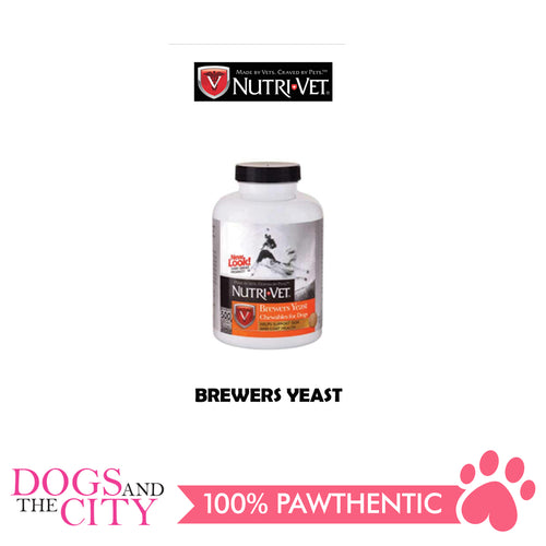 Nutri-Vet Garlic Flavored Brewers Yeast 300 Chewables For Dogs - All Goodies for Your Pet