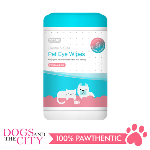 Cature Pet Eye Wipes/Tear Stain Remover Wipes 100 count for Dog and Cat