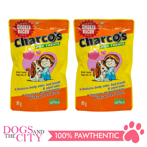 Charcos Treats Smoked Bacon 80g (2 Packs) - All Goodies for Your Pet