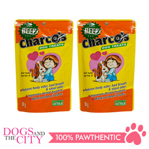 Charcos Treats Beef 80g (2 Packs) - All Goodies for Your Pet
