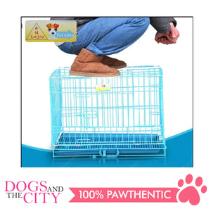 JX D216MA Foldable Pet Cage 75x48x57cm Size 3 Blue - All Goodies for Your Pet