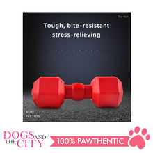 Load image into Gallery viewer, DGZ Extra Strong Dog Toy Barbell 20x10cm