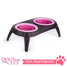 Load image into Gallery viewer, DGZ Collapsible Silicone Double Pet Bowl Feeder with Stand
