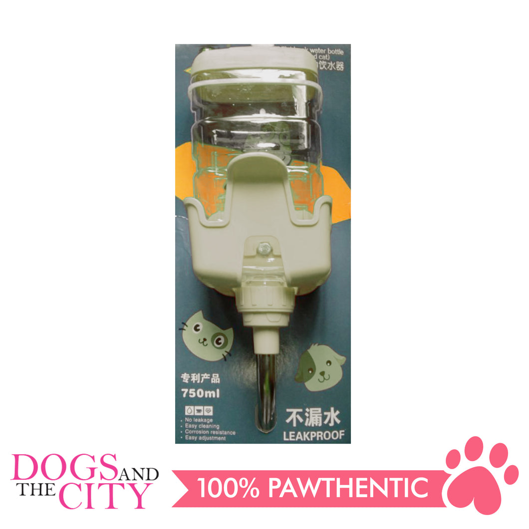 DGZ P1209-2 Pet Square Water Dispenser for Cage 750ml BPA Free Pet Auto Feeding Water Bottle Leakproof Dog Water Bottle for Dogs & Cats