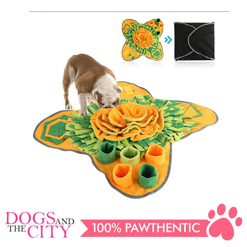 DGZ Dog Training Snuffle Mat Star Shape Orange and Green Interactive Puzzle 71x71cm