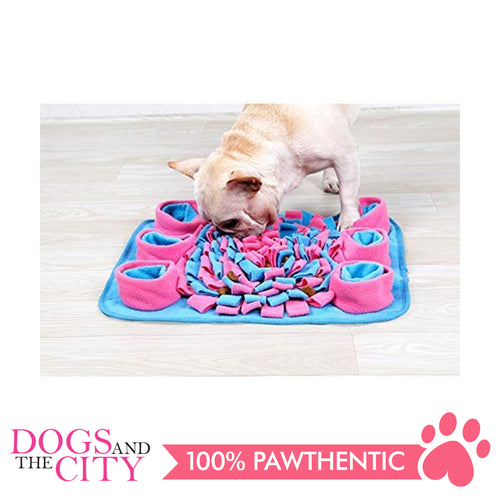 DGZ Pet Snuffle Mat for Dog and Cat, Feeding Mat, Nosework Mat for Relieve Stress, Restlessness, Interactive Puzzle Toys 27x36cm