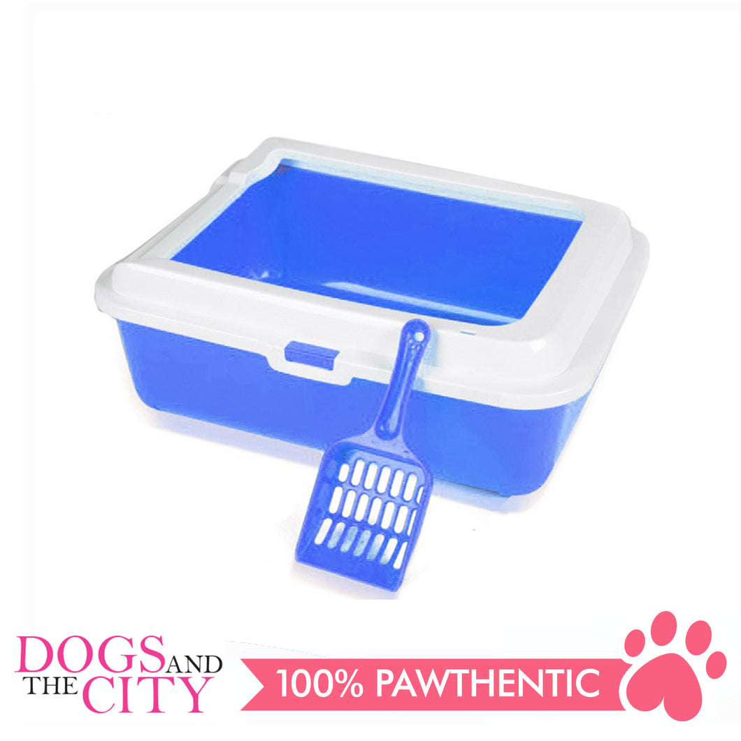 DGZ SO2A Cat Litter Pan with Cat Scooper 43x33x15cm