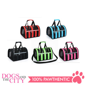 DGZ Pet Folding Net Portable Travel Carrier Large for Dogs and Cat 47x28x26cm