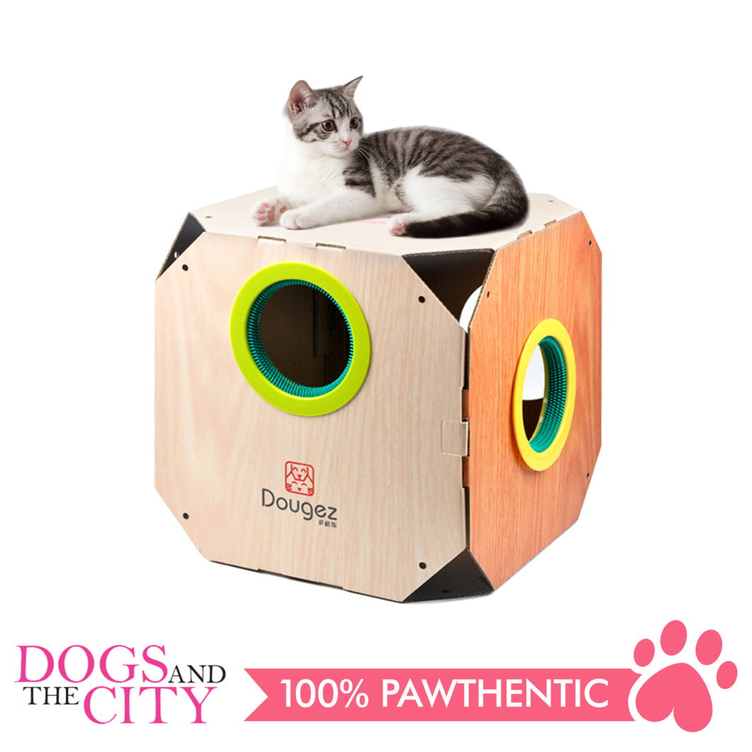 DGZ Portable Pet Nest DIY Carton Modern Cat House Furniture 38x38x38cm
