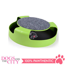 Load image into Gallery viewer, DGZ Green Cat Play Turntable Scratch Pad Cat Toy 25cm