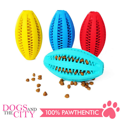 DGZ Interactive Rubber IQ Dog Toy Large 14x6cm