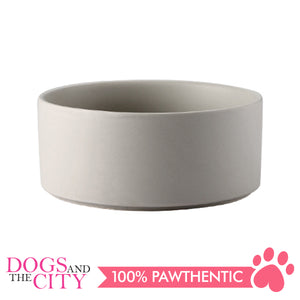 Dgz Nordic Ceramic Pet Bowl Small 400ml 13x5cm for Dog and Cat