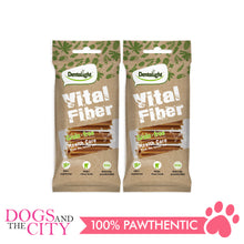 "Load image into Gallery viewer, Dentalight 5437 3.7"" Vital Fiber Wellbar Dog Treats 70g (2 packs) - Dogs And The City Online"