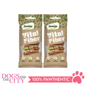 "Dentalight 5437 3.7"" Vital Fiber Wellbar Dog Treats 70g (2 packs) - All Goodies for Your Pet"