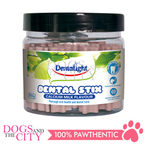 "Dentalight 5123 2.5"" Dental Stick Milk Dog Treats 220g - All Goodies for Your Pet"