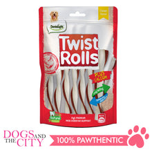 Load image into Gallery viewer, Dentalight 9466 Twist Rolls Chicken Flavor Dog Treats 100g - Dogs And The City Online