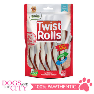 Dentalight 9473 Twist Rolls Beef Flavor Dog Treats 100g - All Goodies for Your Pet