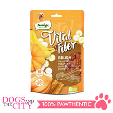 "Load image into Gallery viewer, DENTALIGHT 10080 2.7"" Small Vital Fiber Brush×8pcs 80g Banana, Mountain Yam, Pumpkin Dog Treats"