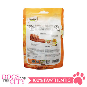"DENTALIGHT 10080 2.7"" Small Vital Fiber Brush×8pcs 80g Banana, Mountain Yam, Pumpkin Dog Treats"