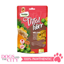 "Load image into Gallery viewer, DENTALIGHT 10127 3"" Small Vital Fiber Wellbar×8pcs 80g Honey, Fennel Seed, Kumquat Dog Treats"