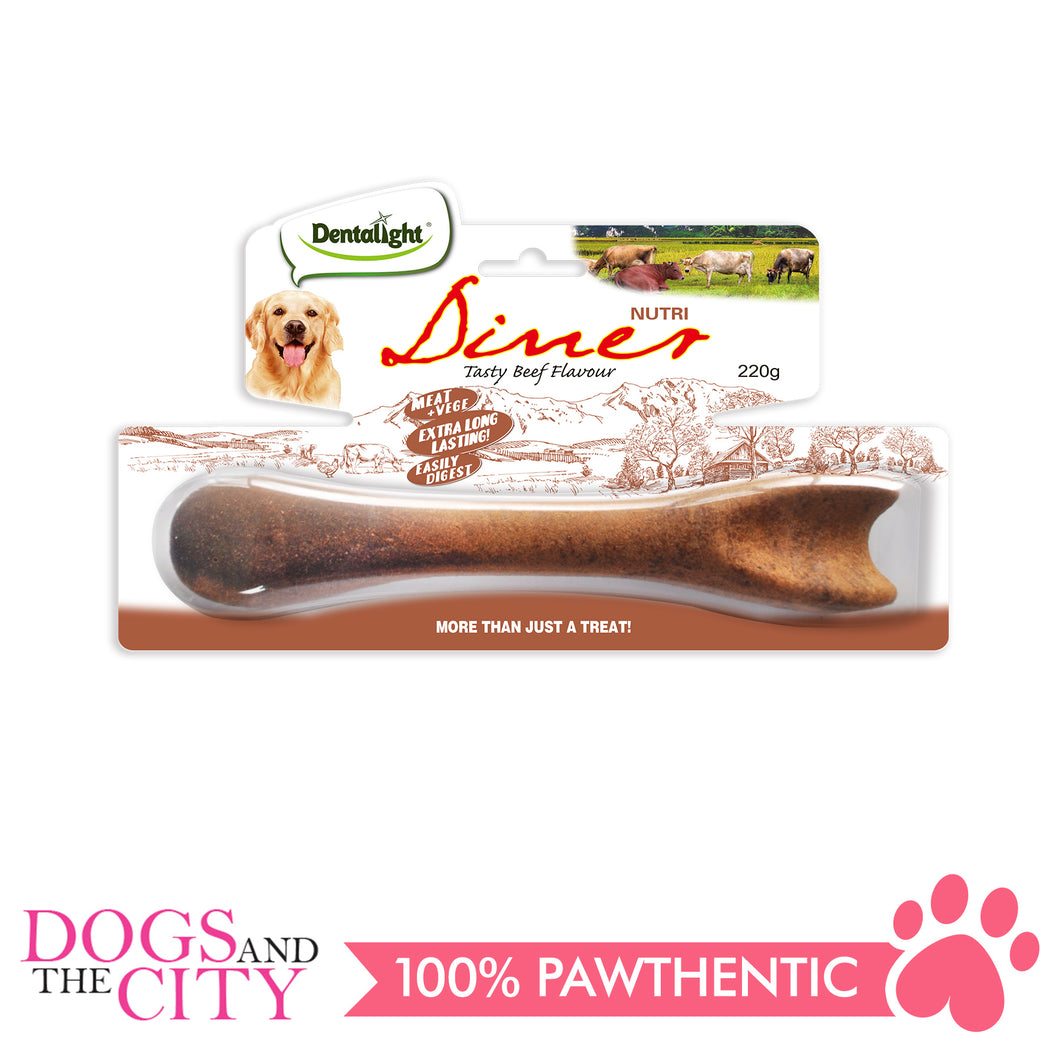 Dentalight 8254 Nutri Diner Tasty Beef Dog Bone 220g - All Goodies for Your Pet