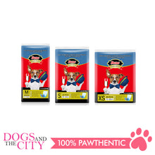 Load image into Gallery viewer, Dono Disposable Dog Diapers Male-Denim Style MEDIUM (18PCS) - Dogs And The City Online