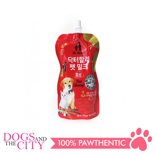 Dr. Holi Dog and Cat Milk Vanilla Red Ginseng 200ml - All Goodies for Your Pet