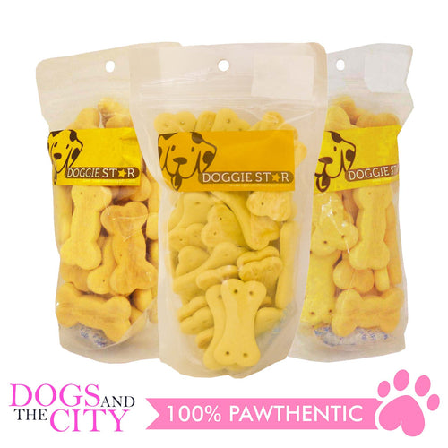 Doggie Star Milk Dog Biscuit 80g (3 packs) - All Goodies for Your Pet