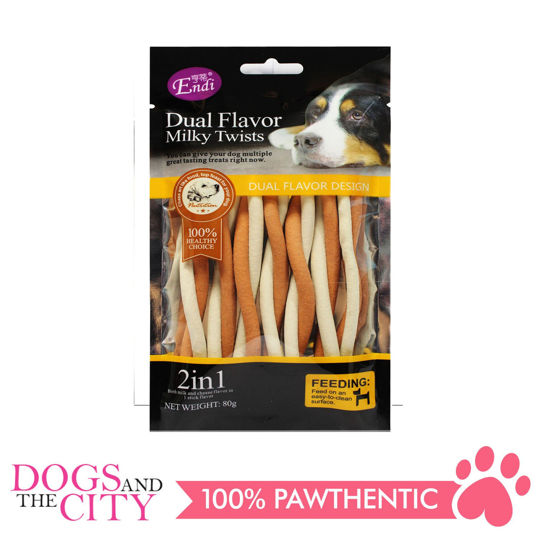 Endi E004 Dual flavor Milky Twists Dog Treats
