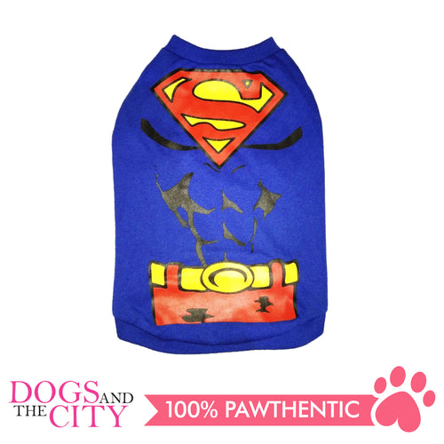 Doggiestar Superman Blue Basic Tee Shirt for Dogs - All Goodies for Your Pet