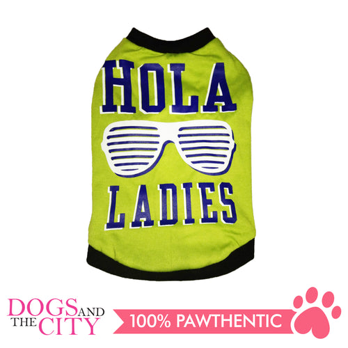 Doggiestar Hola Ladies Green T-Shirt for Dogs - All Goodies for Your Pet