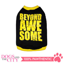 Load image into Gallery viewer, Doggiestar Beyond Awesome Black T-Shirt for Dogs - All Goodies for Your Pet