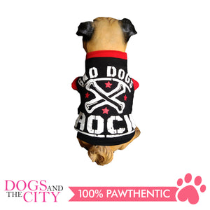 Doggiestar Bad Dogs Rock Black T-Shirt for Dogs - All Goodies for Your Pet