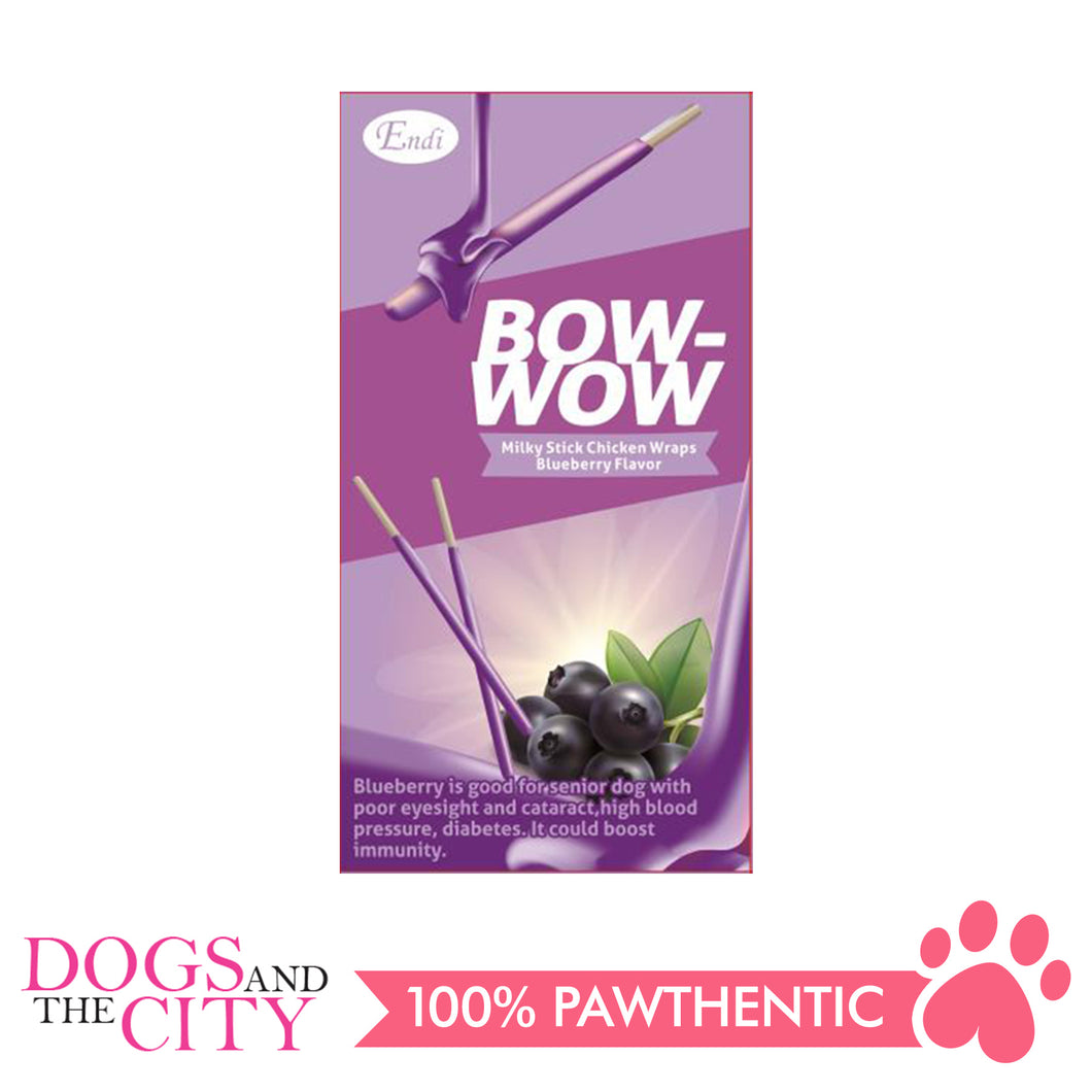 Endi E024 Bow-Wow Milky Stick Wraps Blueberry Dog Treats 96g
