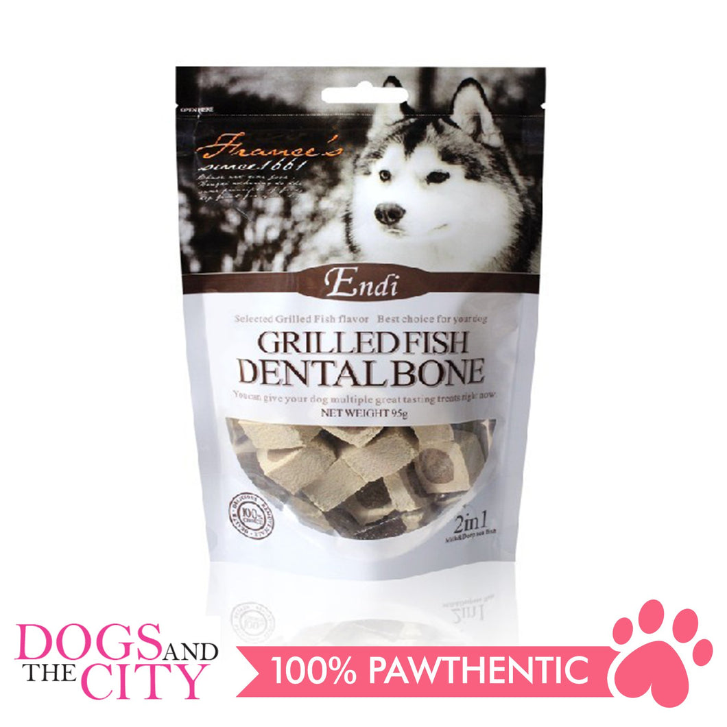 Endi E007 Grilled Fish Dental Bone 95G - All Goodies for Your Pet