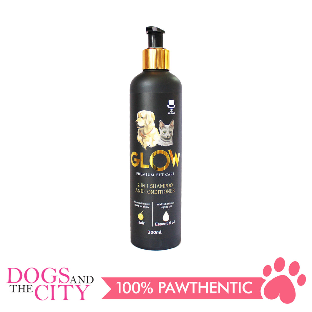 Glow D006 2in1 Shampoo and Conditioner for Dog And Cat 300ml