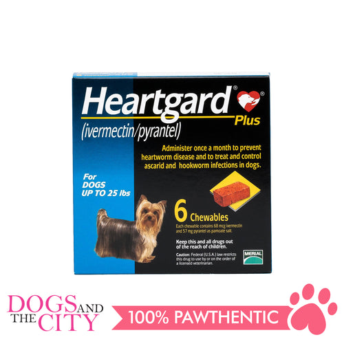 Heartgard Plus Chewable Tablets for Dogs, up to 11kg (6 chewables) - All Goodies for Your Pet