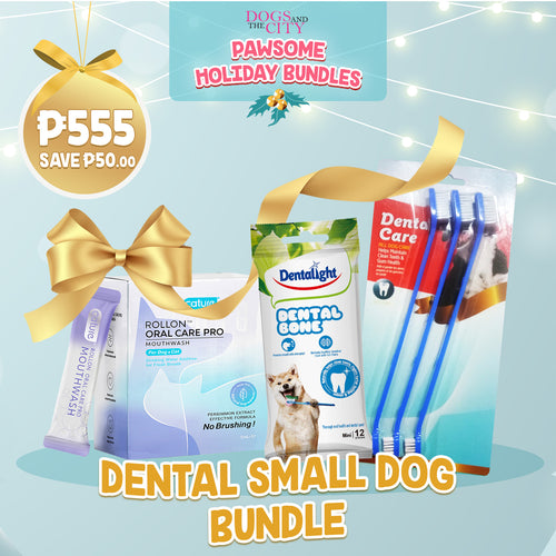 DATC Christmas Dental Small Dog Bundle Set