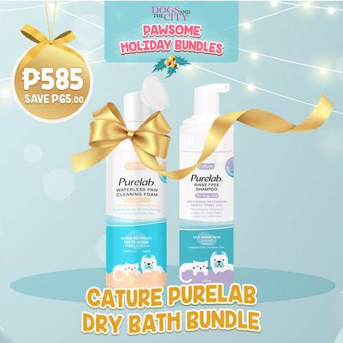 DATC Christmas Cature Purelab Dry Bath Bundle Set for Dog and Cat