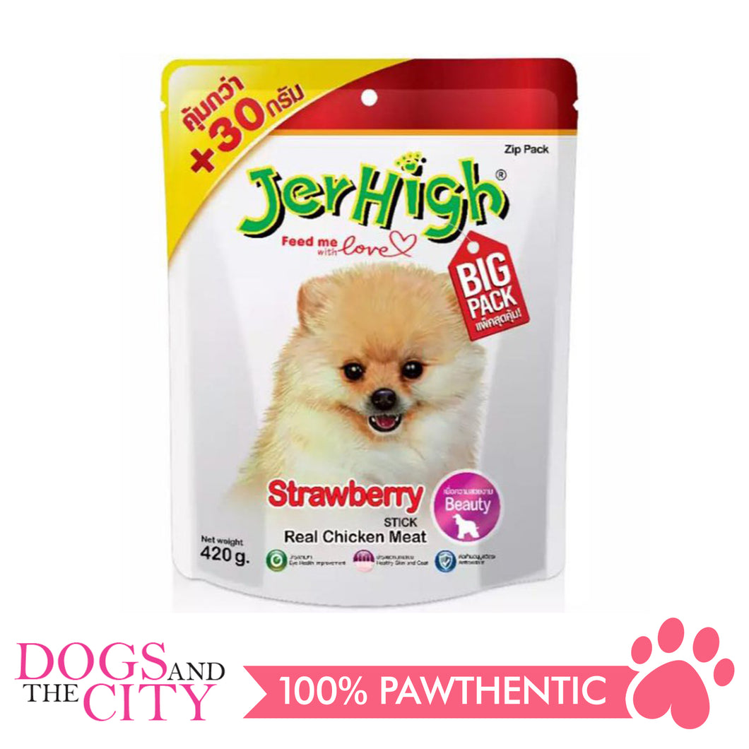 Jerhigh Treats Strawberry 420g - All Goodies for Your Pet