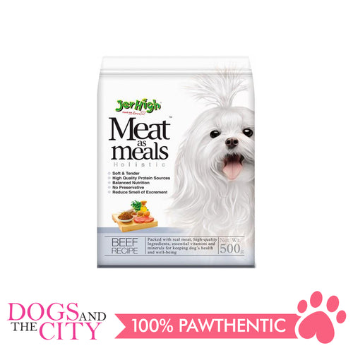 Jerhigh Meat Meals Dog Food Beef Flavor 500g - All Goodies for Your Pet