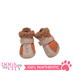 JML Suede with Fur and Rubber Sole Dog Shoes Size 5 - All Goodies for Your Pet