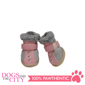 JML Suede with Fur and Rubber Sole Dog Shoes Size 2 - All Goodies for Your Pet