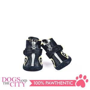 Jml Leather with Fur and Rubber Sole Dog Shoes Size 3 - All Goodies for Your Pet