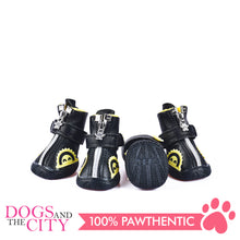Load image into Gallery viewer, Jml Leather with Fur and Rubber Sole Dog Shoes Size 3 - All Goodies for Your Pet