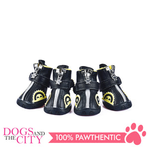 Jml Leather with Fur and Rubber Sole Dog Shoes Size 2 - All Goodies for Your Pet